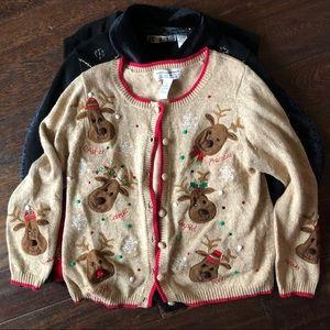 Santa's Reindeer Sweater Cardigan
